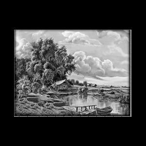 Пейзаж на обратной стороне памятника 25